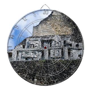 Xunantunich Mayan Ruin in Belize Dartboard