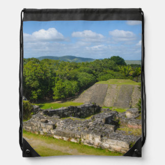 Xunantunich Mayan Ruin in Belize Drawstring Bag