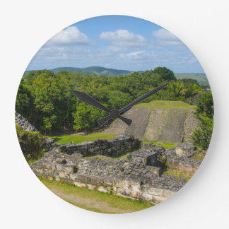Xunantunich Mayan Ruin in Belize Large Clock
