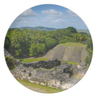 Xunantunich Mayan Ruin in Belize Party Plates