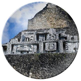 Xunantunich Mayan Ruin in Belize Porcelain Plate