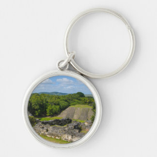 Xunantunich Mayan Ruin in Belize Silver-Colored Round Keychain