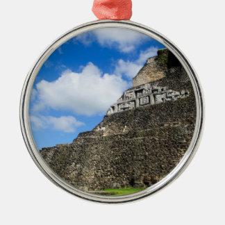 Xunantunich Mayan Ruin in Belize Silver-Colored Round Ornament