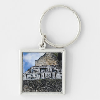 Xunantunich Mayan Ruin in Belize Silver-Colored Square Keychain