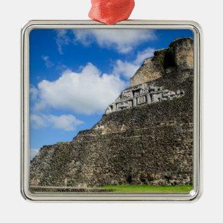 Xunantunich Mayan Ruin in Belize Silver-Colored Square Ornament