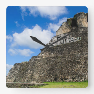 Xunantunich Mayan Ruin in Belize Square Wall Clock