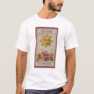 XVIIII Le Soleil, French tarot card of the Sun T-Shirt