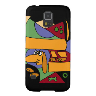 XW- Funny Dachshund Abstract Art Galaxy S5 Case