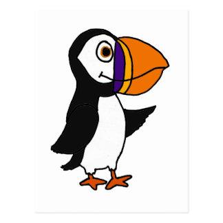 XX- Adorable Cute Puffin Bird Postcard