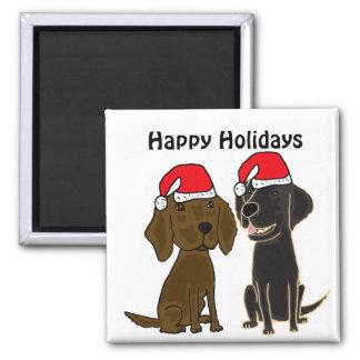 XX aimant enduit plat de Noël de chiens d'arrêt