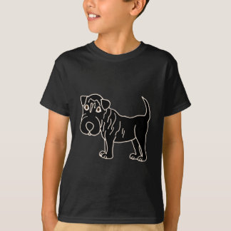 XX- Black Shar Pei Dog Cartoon T-Shirt