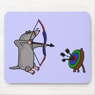 XX- Blind Mole in Archery Competition Mouse Pad