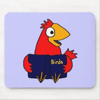 XX- Cardinal Bird Reading Book About Birds Mouse Pad