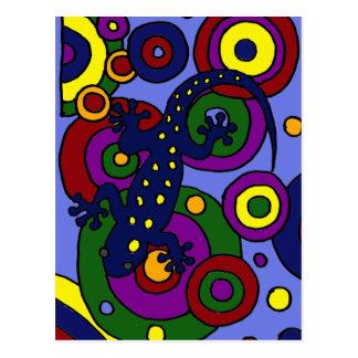 XX- Colorful Salamander Art Postcard