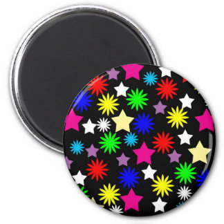XX- Colorful Stars Patter Magnet