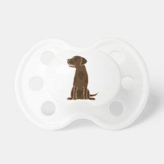 XX- Cute Chocolate Labrador Retriever Pacifier