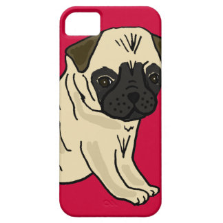 XX- Cute Pug Puppy Dog Cartoon iPhone 5 Cover