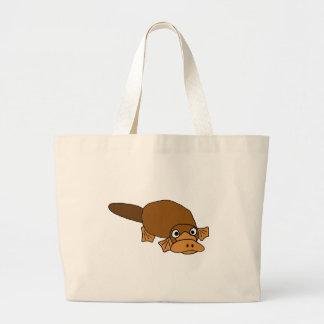 XX- Duck Billed Platypus Cartoon Large Tote Bag