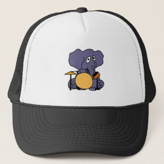 XX- Elephant Playing Drums Trucker Hat