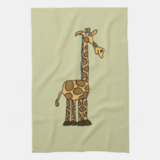 XX- Funky Giraffe cartoon Hand Towels