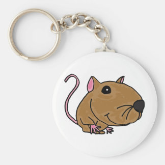 XX- Funky Mouse Basic Round Button Keychain