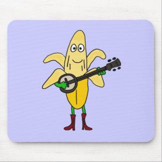 XX- Funny Banana Playing Banjo Cartoon Mouse Pad