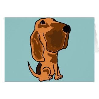 XX- Funny Bloodhound Puppy Dog Card