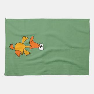 XX- Funny Dancing Duck Cartoon Kitchen Towel