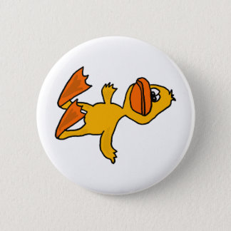 XX- Funny Dead Duck Cartoon 2 Inch Round Button