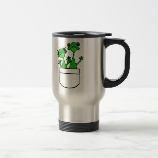 XX- Funny Frogs in a Pocket Design Travel Mug