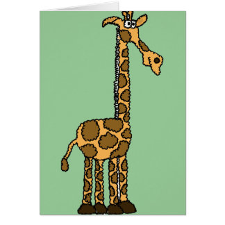 XX- Funny Giraffe Cartoon Card