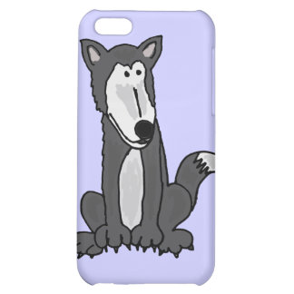 XX- Funny Goofy Grey Wolf Cover For iPhone 5C
