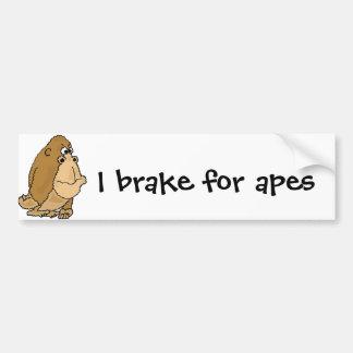 XX- Funny Gorilla Cartoon Bumper Sticker