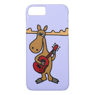 XX- Funny Moose Playing Guitar Cartoon iPhone 7 Case