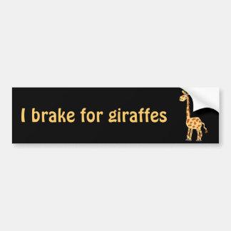 XX- Funny Primitive Art Giraffe Car Bumper Sticker