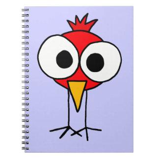 XX- Funny Redbird Cartoon Notebook