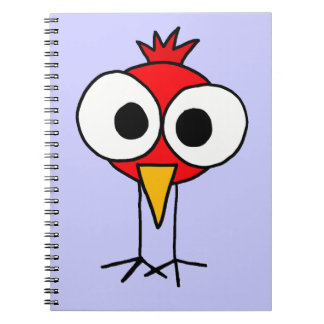 XX- Funny Redbird Cartoon Notebooks