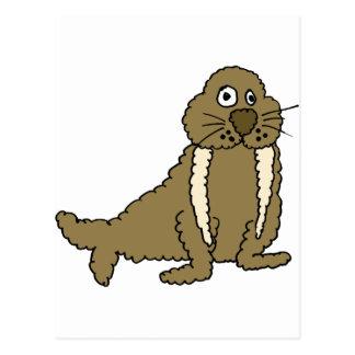 XX- Funny Walrus Postcard