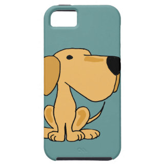 XX- Funny Yellow Labrador Dog Art iPhone 5 Cover
