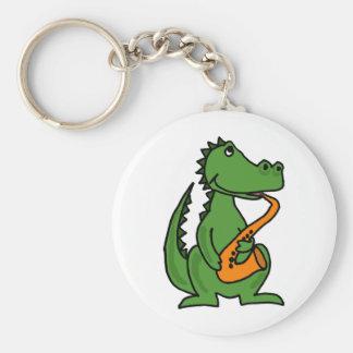 XX- Gator Playing Saxophone Keychain