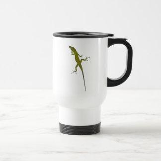 XX- Green Chamelon Lizard Travel Mug