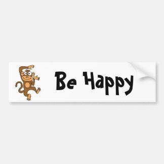XX- Happy Dancing Monkey Car Bumper Sticker