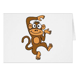 XX- Happy Dancing Monkey Greeting Card