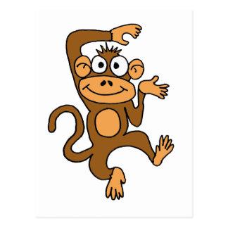 XX- Happy Dancing Monkey Postcard