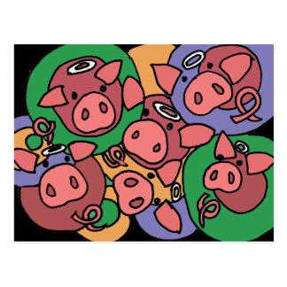 XX- Hog Heaven Postcard