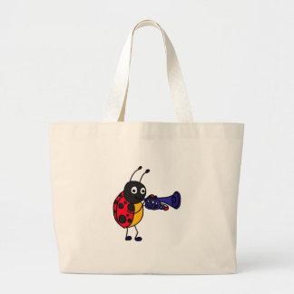 XX- Ladybug Playing Trumpet Cartoon Bags