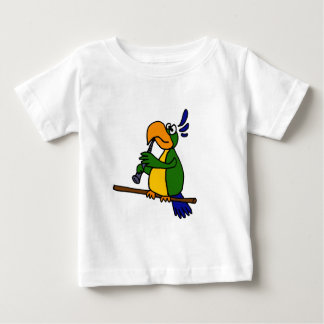 XX- Parrot Playing the Clarinet Design Baby T-Shirt