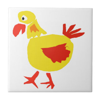XX- Primitive Art Chicken Tile