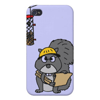 XX- Squirrel Engineer iPhone 4 Case