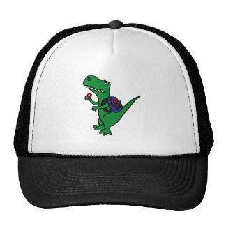 XX- T-rex Dinosaur Back to School Cartoon Trucker Hats